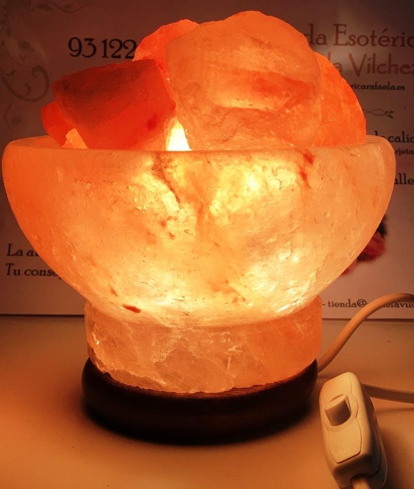 Comprar Cuenco Lámpara Sal Del Himalaya Natural De 20cm 2 A 4 Kilos