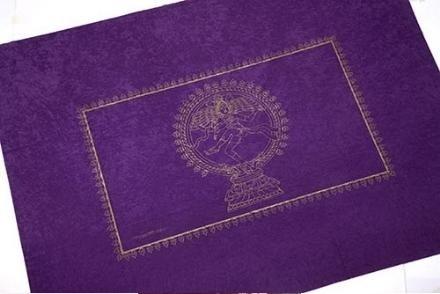 Comprar Tapete de Tarot color Morado símbolo Shiva 150x120
