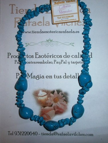 Collar How Turquesa chip 5 Cantos Rodados